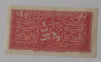 ČSR 5 Koruna ULV (1945) bez letopočtu