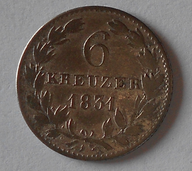 Mossen 6 Krejcar 1831
