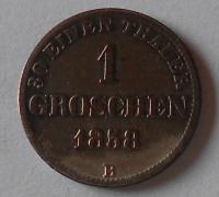 Oldenburg 1 Groš 1858 B