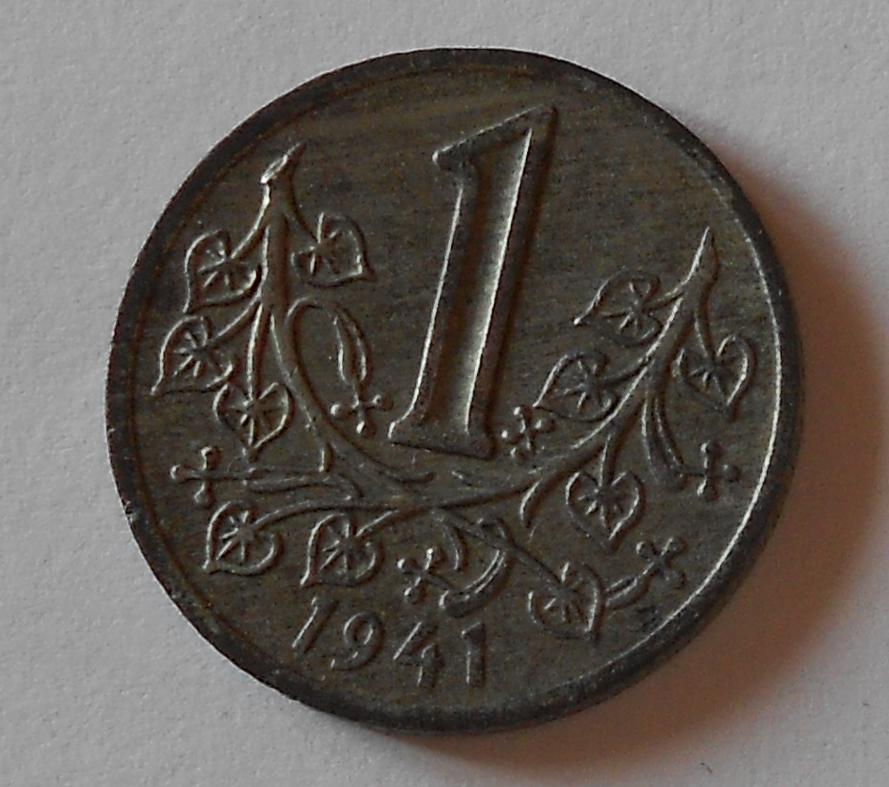 P-Č+M 1 Koruna 1941