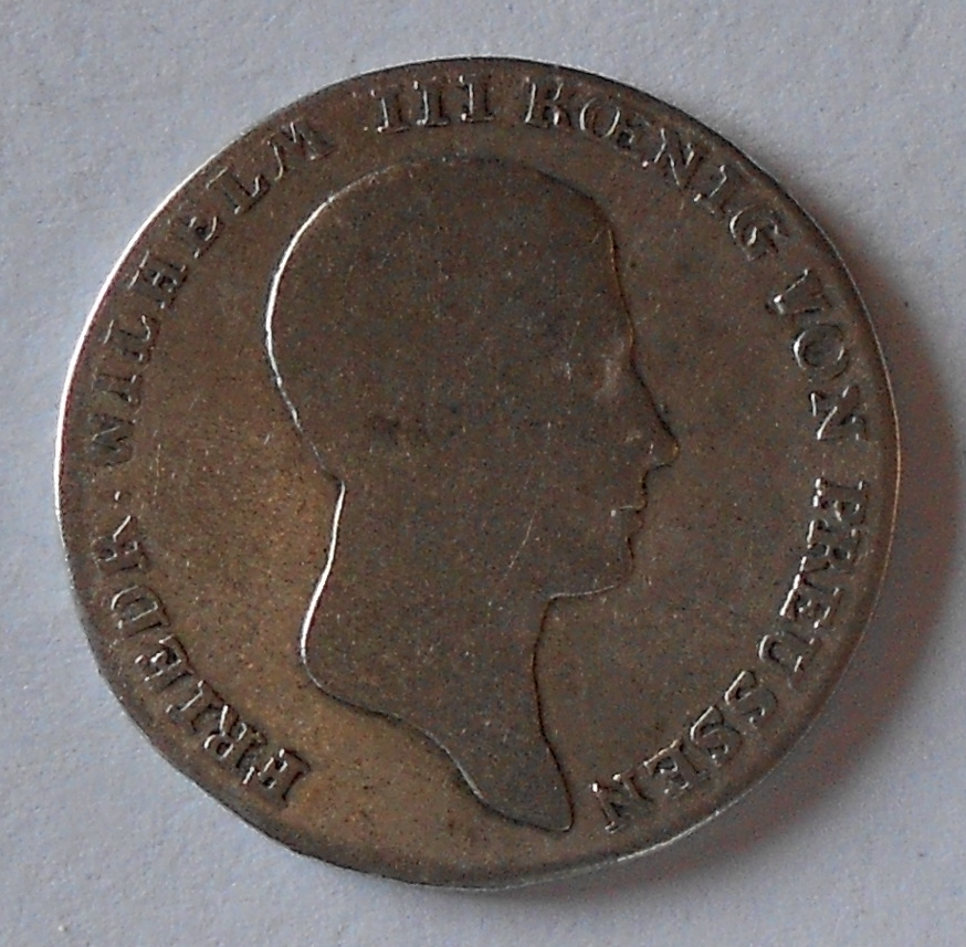 Prusko 1/6 Tolar 1816 A Frid. Wilh. III.