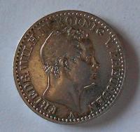 Prusko 1/6 Tolar 1843 Frid. Wilh. IV.