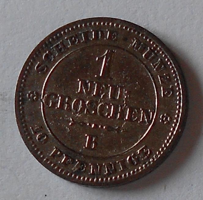 Sasko 1 Nový Groš 1863 B