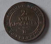 Sasko 2 Nový Groš 1865 B