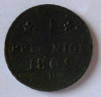 Sasko 4 Pfenik 1809 H
