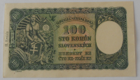 Slovensko 100 Koruna D-4 II. vydání 1940 perfor.