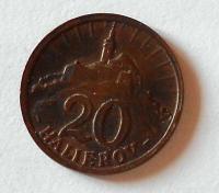 Slovensko 20 Haléř 1940