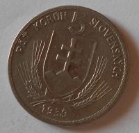 Slovensko 5 Koruna, Hlinka 1939