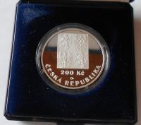 200 Kč(2001-Fotbalový svaz), stav PROOF, etue + certifikát