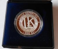 200 Kč(2005-L+K), stav PROOF, etue + certifikát