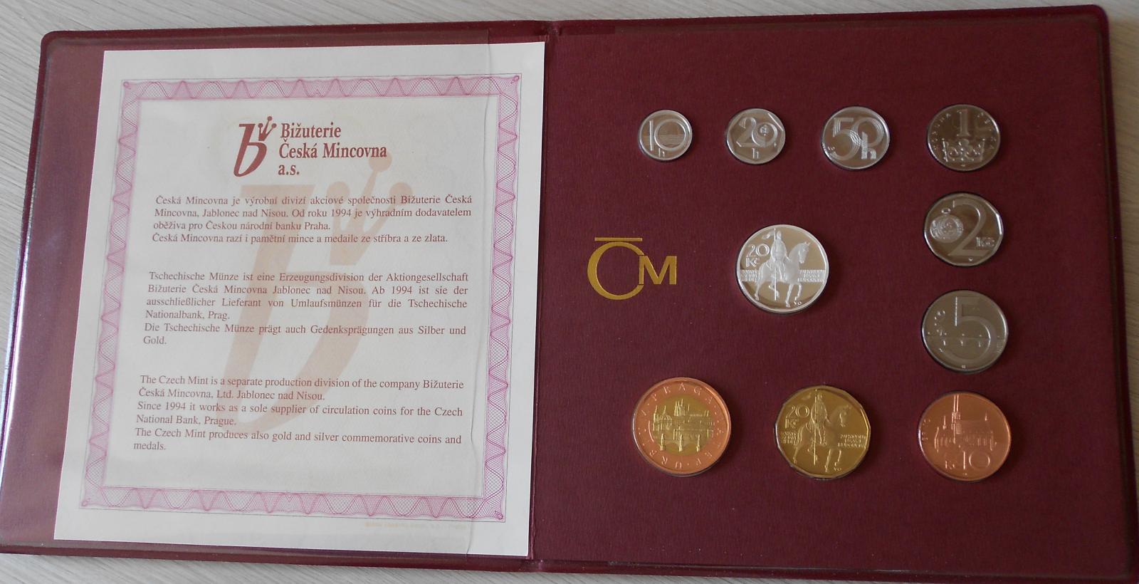 ČSR Sada mincí 1998 proof