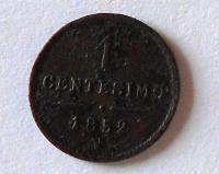 Rakousko 1 Centesimi 1852 V