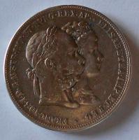 Rakousko 2 Gulden/Zlatník 1879 Stříbrná svatba, měl ouško