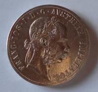 Rakousko 2 Gulden/Zlatník 1880 měl ouško