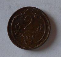 Rakousko 2 Haléř 1915 stav