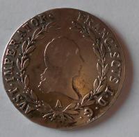 Rakouskou 20 Krejcar 1819 A František II.