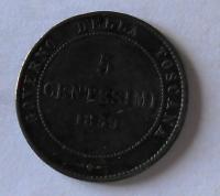 Toskánsko 5 Cent 1859