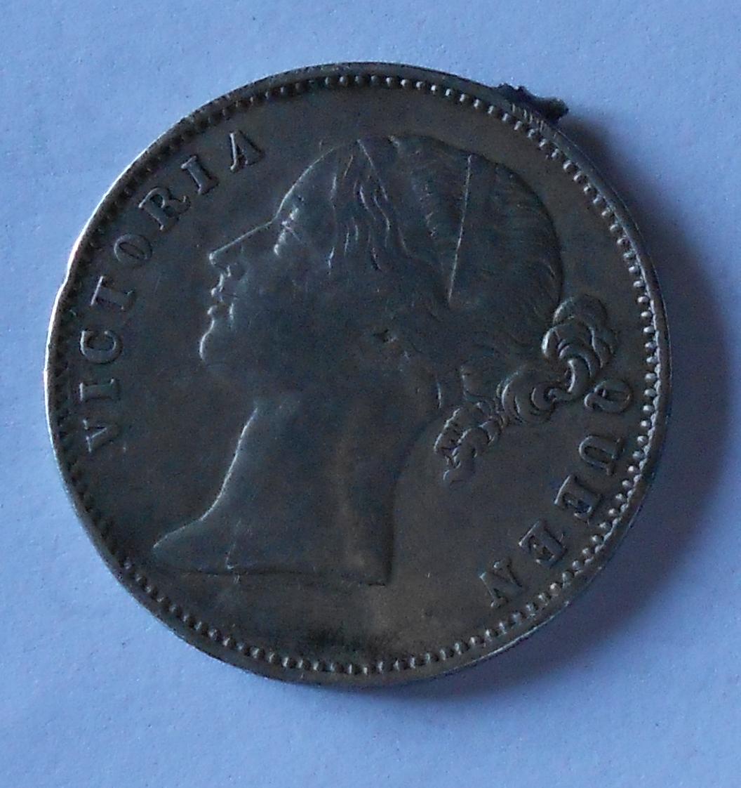 Brit. Indie Ine Rupie 1840 měl ouško