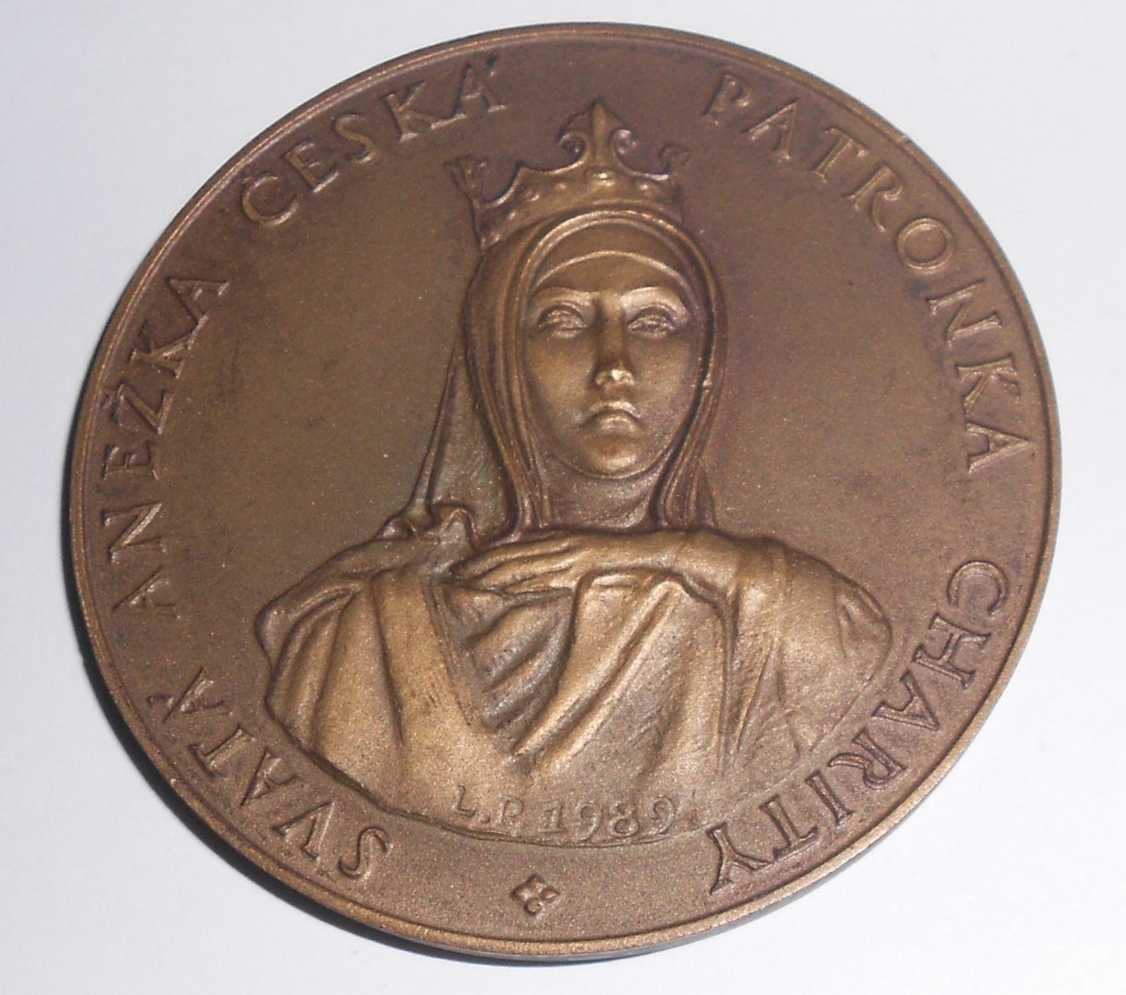 ČSR Anežka Česká bronz, průměr 60 mm