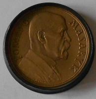 ČSR + Etue 85. narozeniny TGM 1935, průměr 50 mm