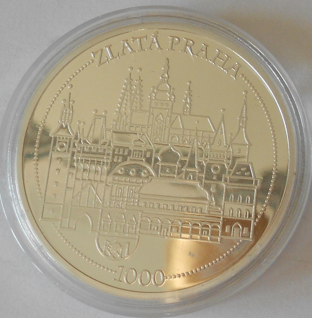 ČSR Faustův dům – zlatá Praha, průměr 40 mm
