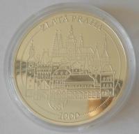 ČSR kostel sv. Mikuálše – zlatá Praha, průměr 40 mm