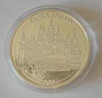 ČSR Národní divadlo – zlatá Praha, průměr 40 mm