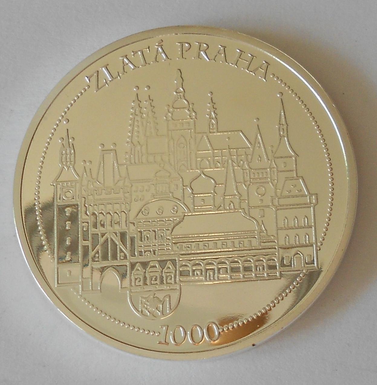 ČSR Pražský hrad – zlatá Praha, průměr 40 mm