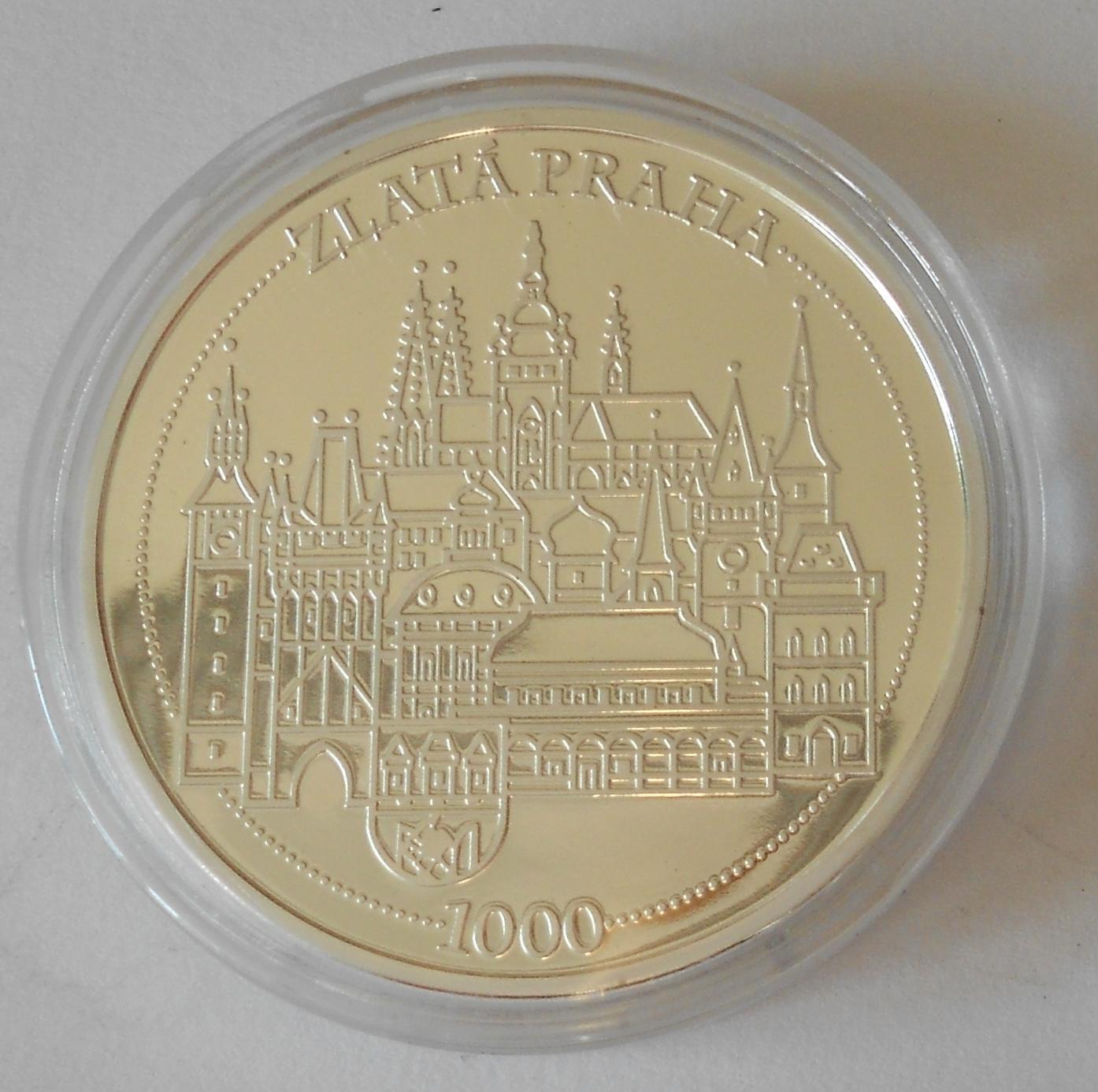 ČSR Staroměstský orloj – zlatá Praha, průměr 40 mm