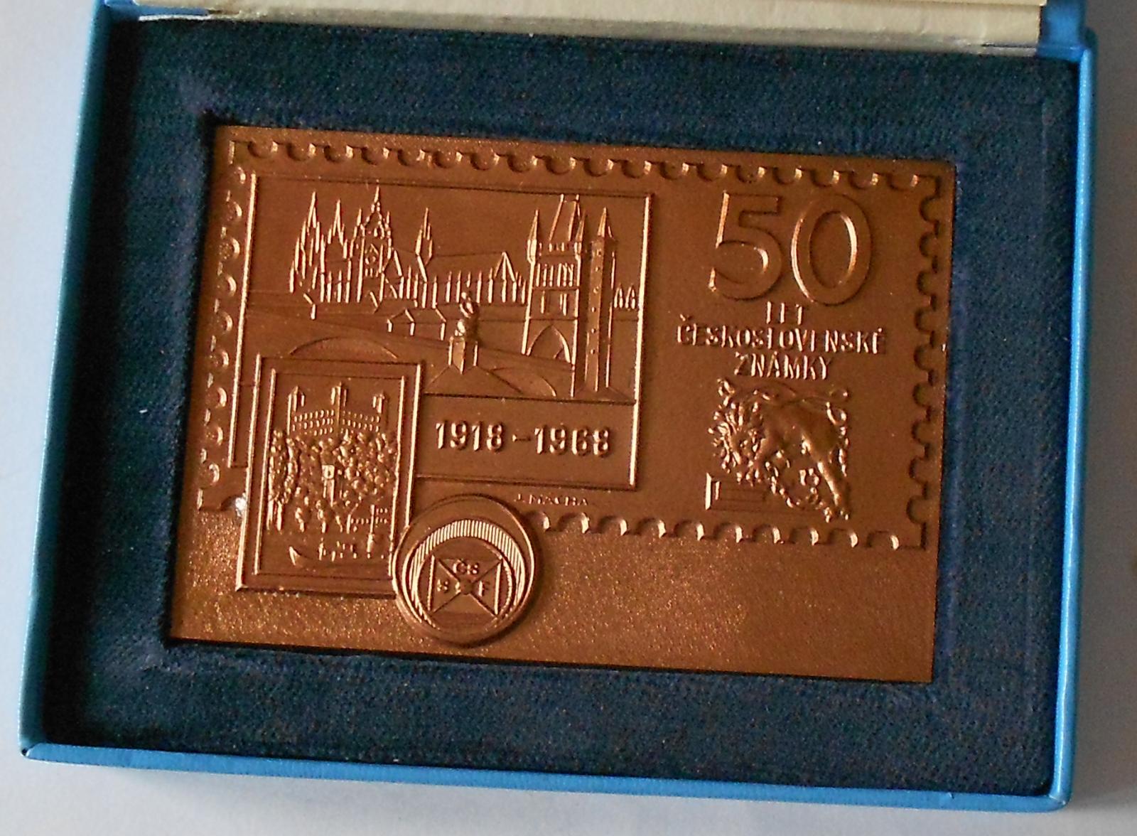 ČSSR 50 let čs. poštovní známky