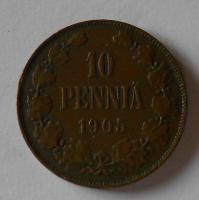 Finsko pod Ruskem 10 Penia 1905