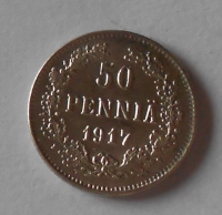 Finsko pod Ruskem 50 Penia 1917