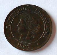 Francie 5 Cent 1886