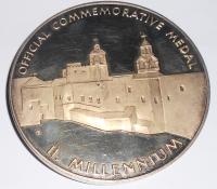 Medaile na setkání J.A. a Papeže Jana Pavla II., průměr 60 mm