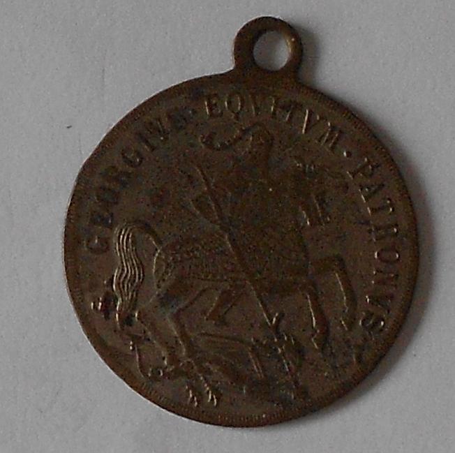 Medaile sv. Jiří zabíjí draka