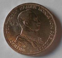 Prusko 3 Marka 1914 Vilém II.
