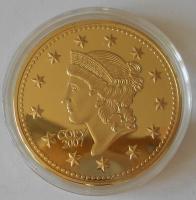 USA 1 Dolar 1849 , průměr 40 mm