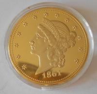 USA Paguet Eagle 1861 , průměr 40 mm