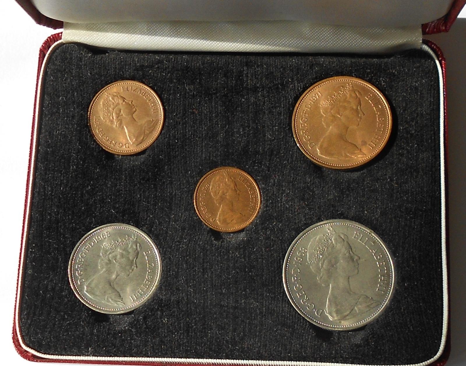 V. Británie Sada mincí 1968