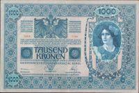 1000Kč/1902-18, kolek ČSR/, stav 2+, série 1186, šedozelený podtisk