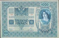 1000Kč/1902-18, kolek ČSR/, stav 2+, série 1209, šedozelený podtisk