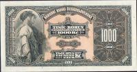 1000Kč/1932/, stav 2+ perf. SPECIMEN svisle vpravo, série A