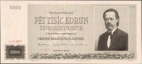 5000Kčs/1945/, stav UNC perf. 3m.d., série 20 A