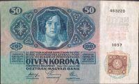 50Kč/1914-18, kolek ČSR/, stav 2, série 1057
