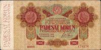 50Kč/1919/, stav 3- n., série 0008