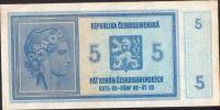 5Kč/1938-40/, stav 2+, série A 053 - ruční přetisk
