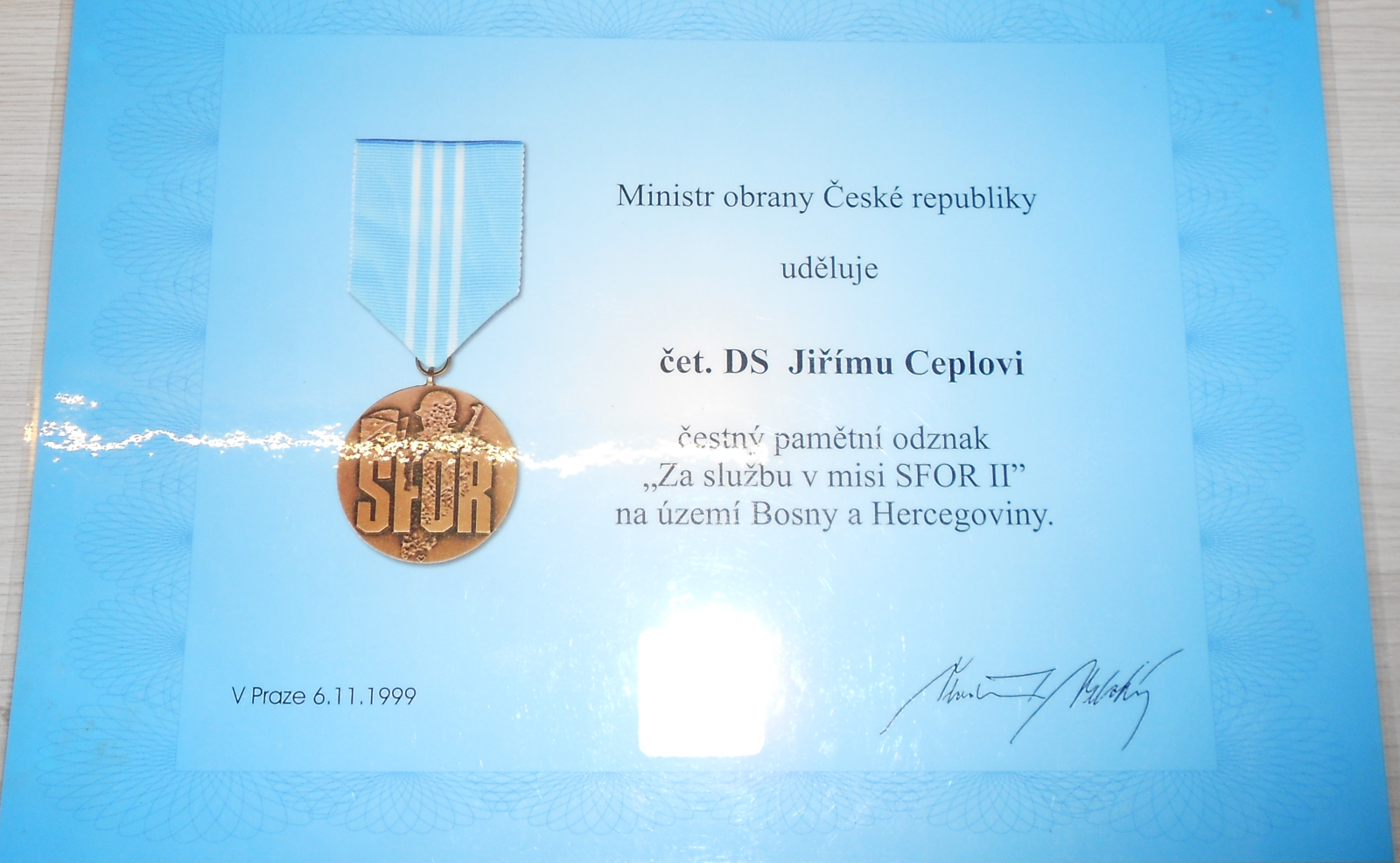 ČR Dekret – jednotky SFOR