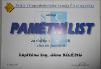 ČR – Pamětní list náčelníka GŠ