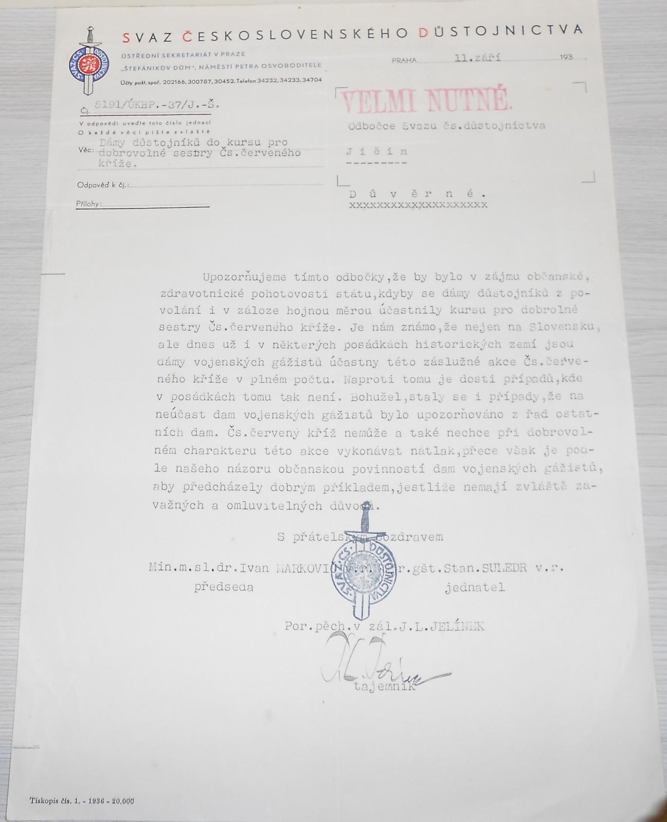 ČSR Svaz československého důstojnictva