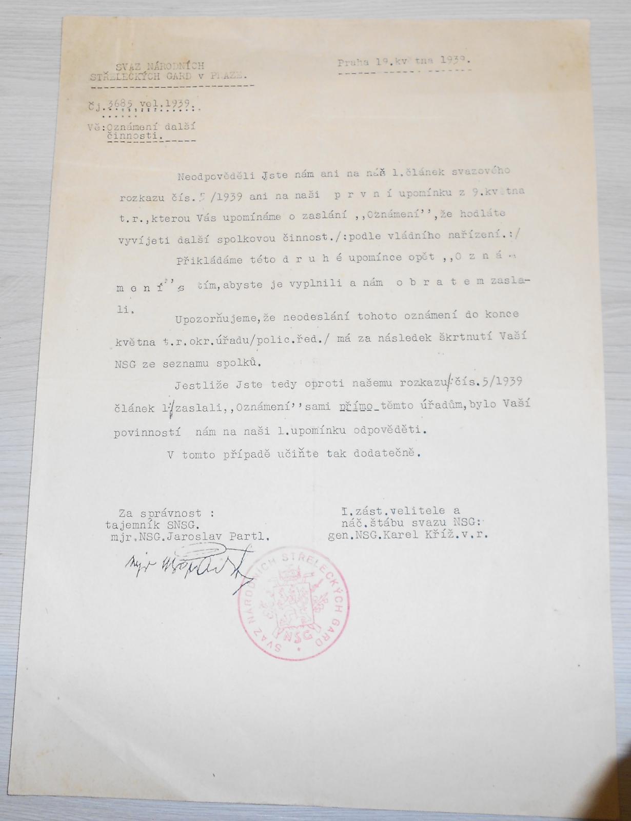 ČSR Svaz národních střeleckých gard